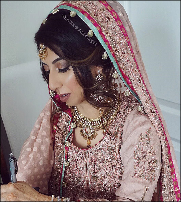 Indian wedding hairstyles with veil