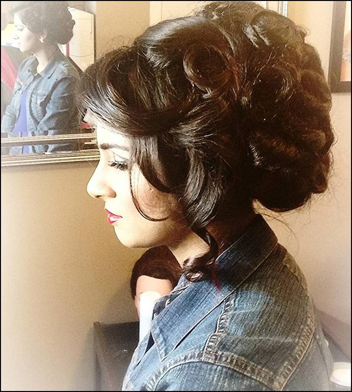 Indian Bridal Bun: Indian Bridal Hairstyles: The Perfect 16 Wedding Hairdo Pics