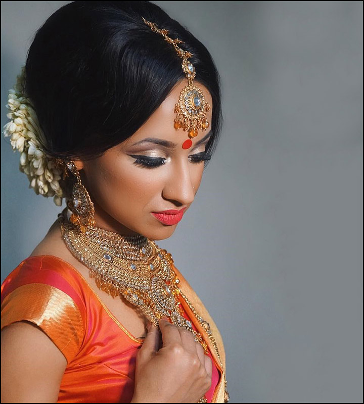 Hindu Bridal Hairstyles 14 Safe Hairdos For The Modern: Indian Bridal Hairstyles: The Perfect 16 Wedding Hairdo Pics