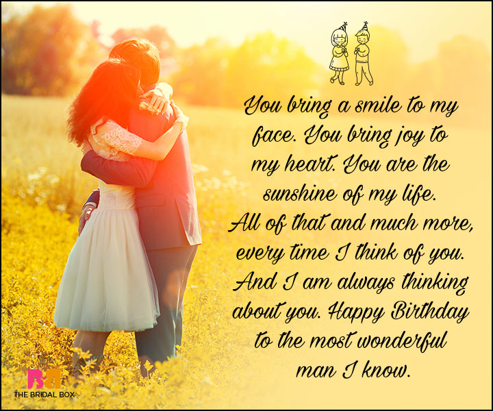 birthday love quotes for him the special man in your life
