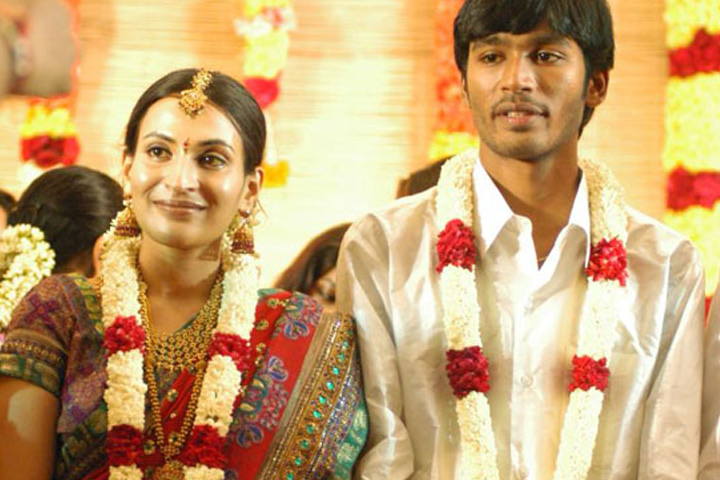 Image result for dhanush with his wife