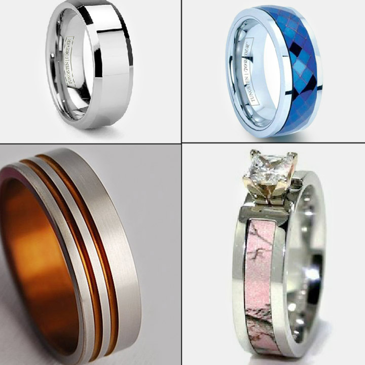 wood media lined s red women rings oak band men engagement wedding ring cobalt exotic gift