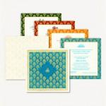 motifs printed muslim wedding cards