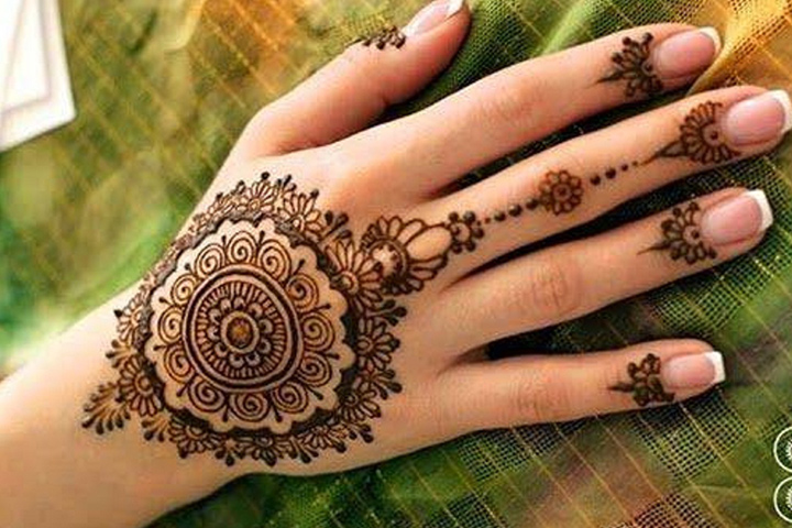 8 simple arabic mehndi designs for beginners. Black Bedroom Furniture Sets. Home Design Ideas