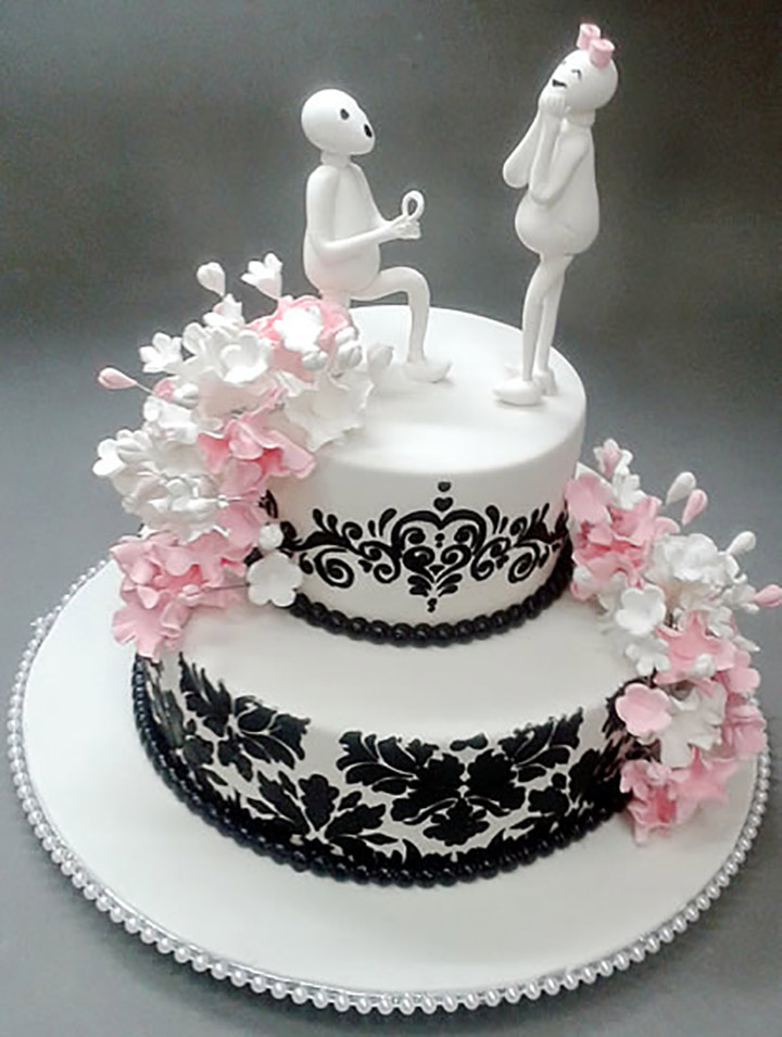 7 Adorable Engagement Cake Designs For The Winsome Couple