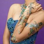 gliter-henna-bajuband mehndi
