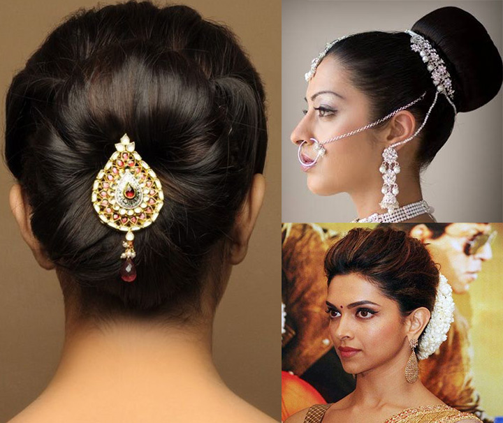 Indian Bridal Hairstyles For Long Hair   The Classic Bun