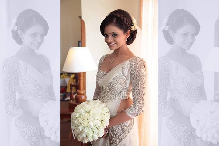 Christian Wedding Sarees The Crystal Leaf