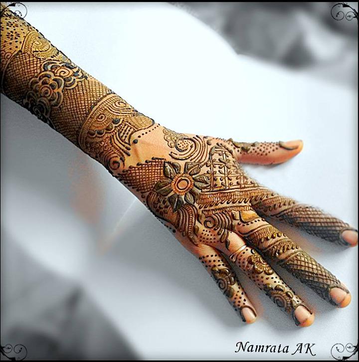 indo arabic mehndi designs for bride