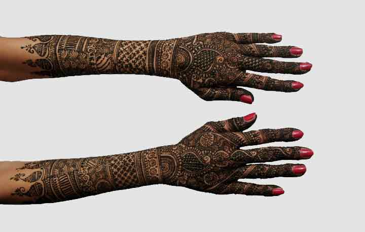 Mehndi Bridal Mehndi Design : Latest back hand mehndi design the bridal box
