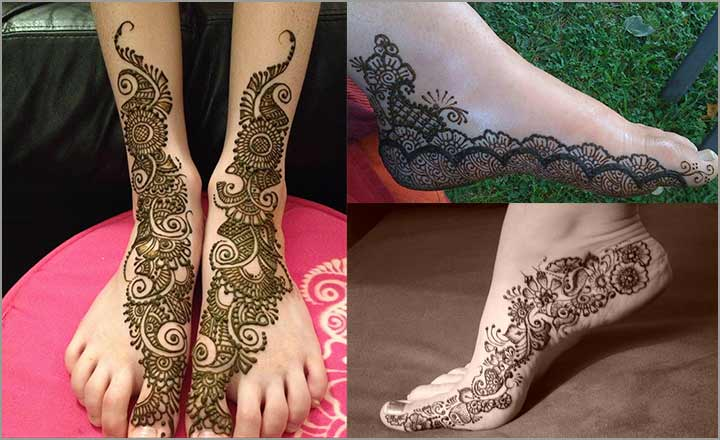 indian mehndi designs for feet