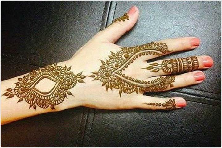 Mehndi Patterns Wallpapers : Simple khafif mehndi design images : beautiful brown