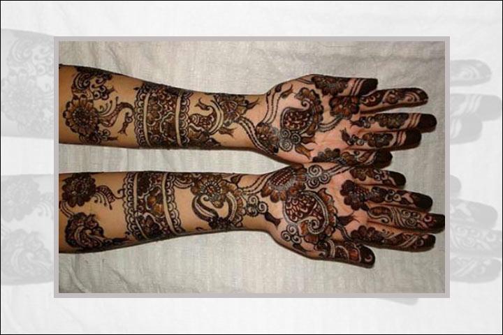Mehndi Tattoo Bajuband : Latest red and black mehndi designs for you