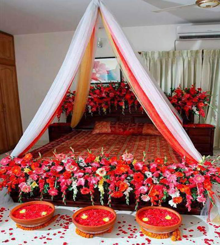 Wedding room decorations 10 ideas to make the festivities for Asian wedding bedroom decoration