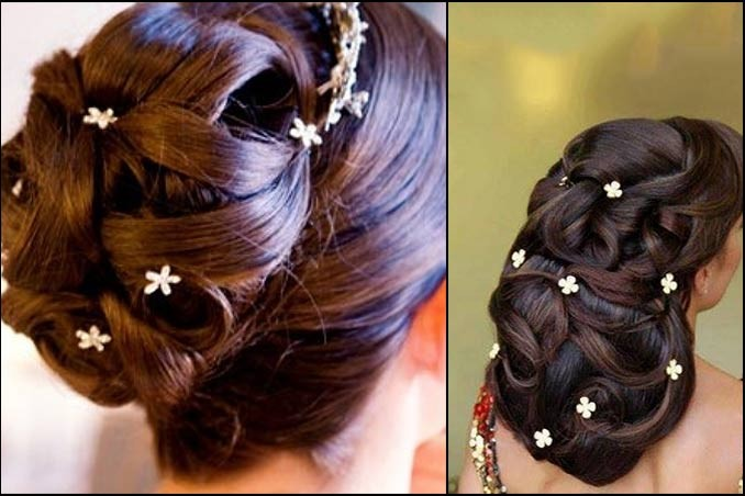 South indian bridal hairstyles for curly hair