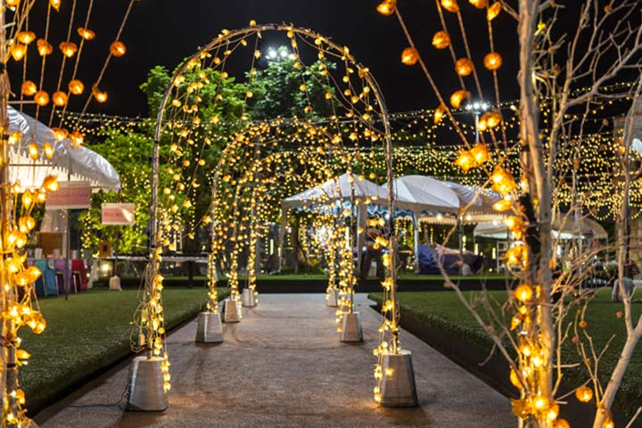 11 brightest ideas on light decoration for wedding the light arches junglespirit Choice Image