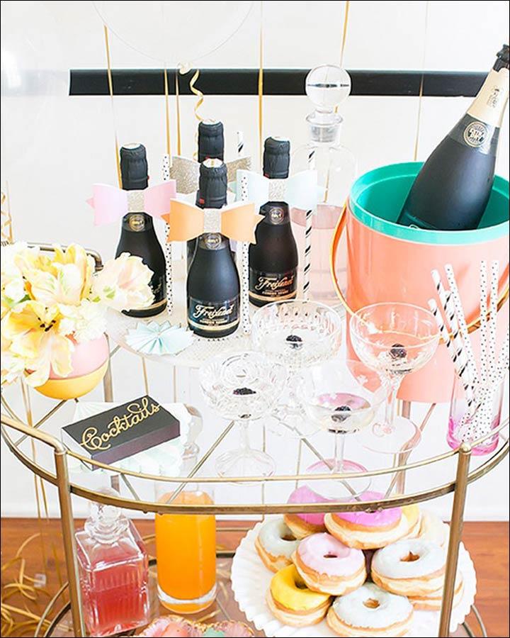 Champagne-And-Donut-Bar-Wedding-Shower-Decoration