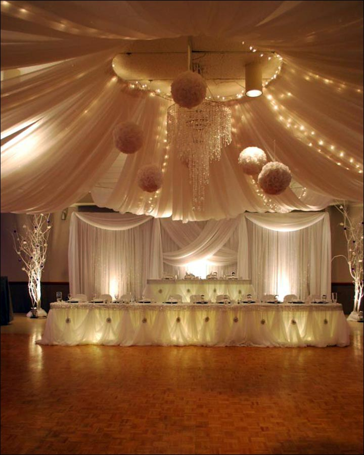 Wedding Stage Decoration White