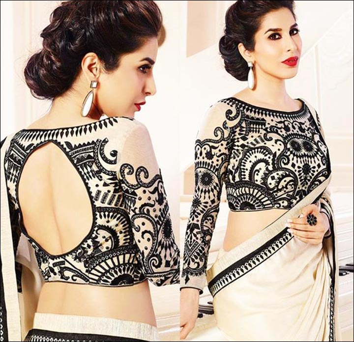 Circular-Open-Back-Blouse-Design--bridal-saree-blouse-design