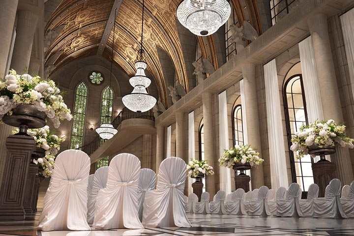9 strikingly simple ideas on church decoration for wedding elegant chairs and gorgeous flowers decoration for church wed junglespirit Image collections