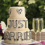 Champagne Coloured Confectionery wedding cake
