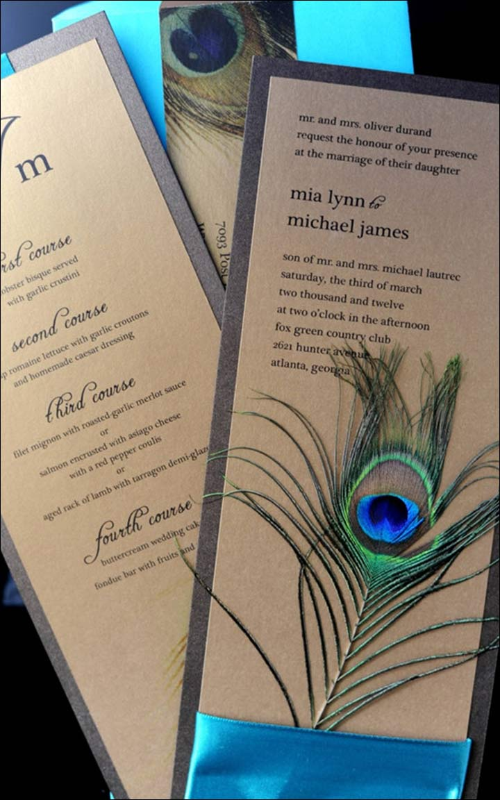 9 Majestic Peacock Wedding Invitations That Are Sure To Impress
