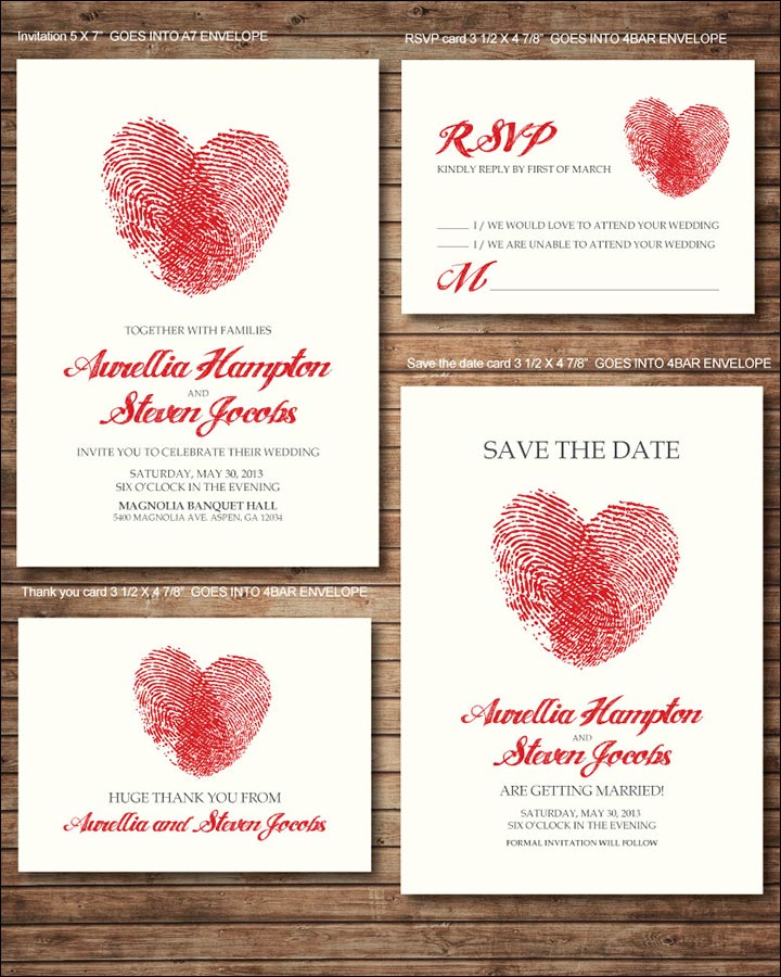 10 heart wedding invitations sure to spread the love