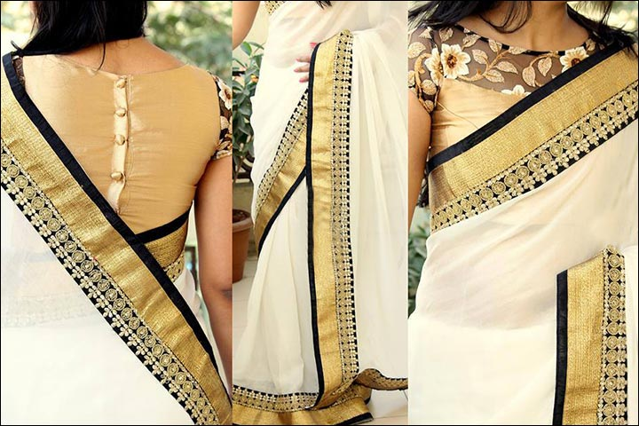 Kerala Wedding Sarees Modern Zari Kasavu Saree