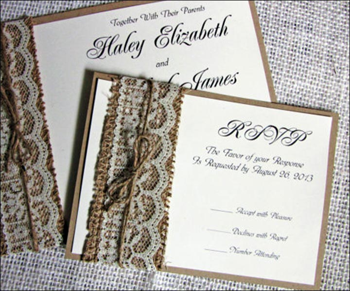 14 Out Of The Box Handmade Wedding Invitations – Handmade Rustic Wedding Invitations