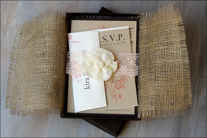 10 rustic wedding invitations you need to check out rustic burlap wedding invite solutioingenieria Image collections