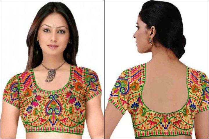 Indian Sleeveless Blouse Patterns 66