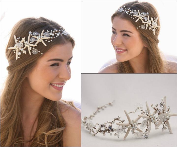 Wedding Hair Accessories Starfish And Fl Vine