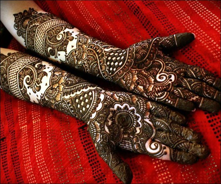 Traditional N Bridal Mehndi Designs : Rajasthani bridal mehndi designs for full hands top of