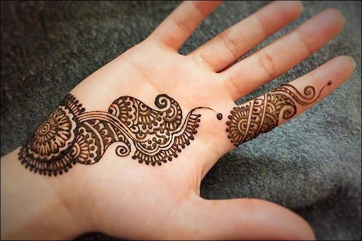 Single Line Mehndi Designs - 10 Best & Simple One Line Mehndi