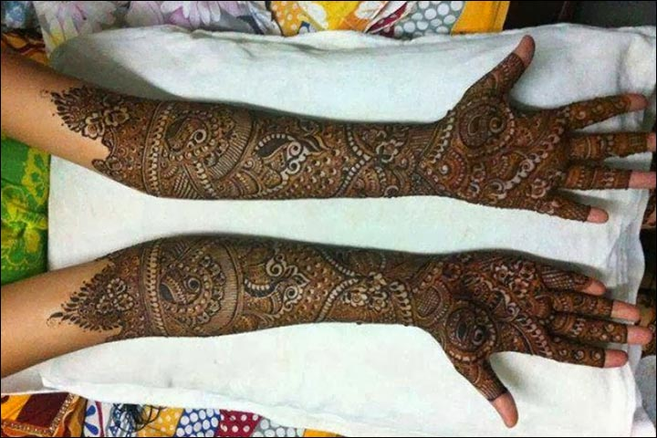 Rajasthani bridal mehndi designs for full hands intricate artwork