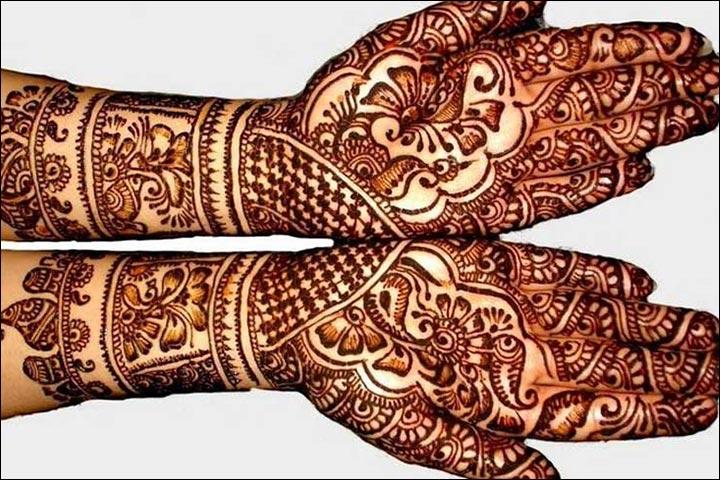 Rajasthani Bridal Mehndi Designs For Full Hands - Mix Of Patterns