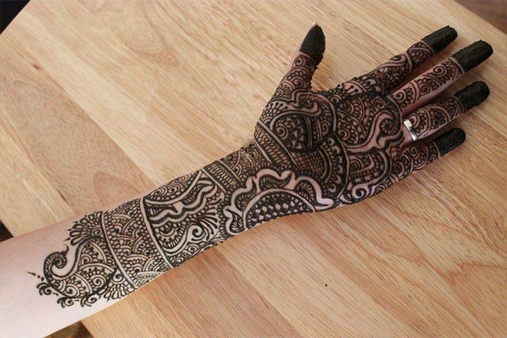 Mehndi Designs For Hands Bridal Rajasthani : Rajasthani bridal mehndi designs for full hands top of