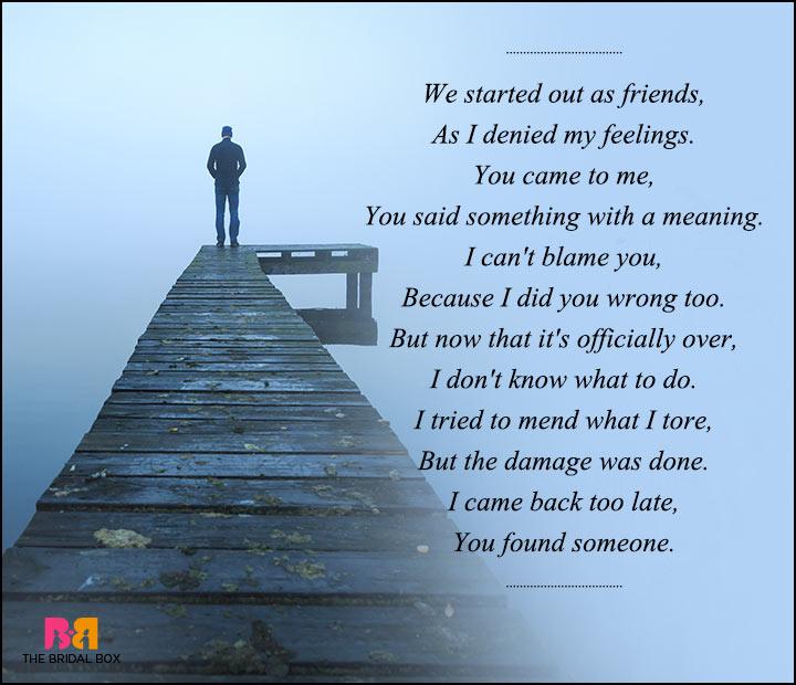 sad love poems for - photo #22