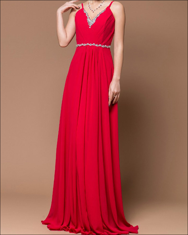 10 ravishing bridal ideals for the red gown for wedding for Simple red wedding dresses