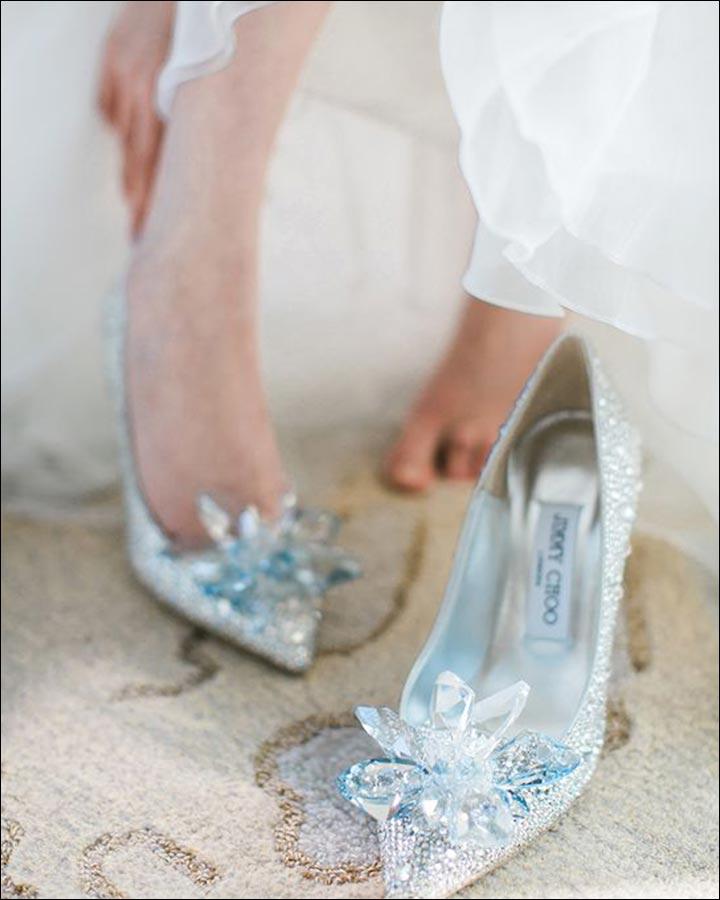 Cinderella-jimmy choo wedding shoes