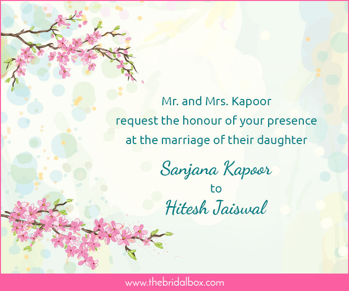 Wedding Invitation Wording 1