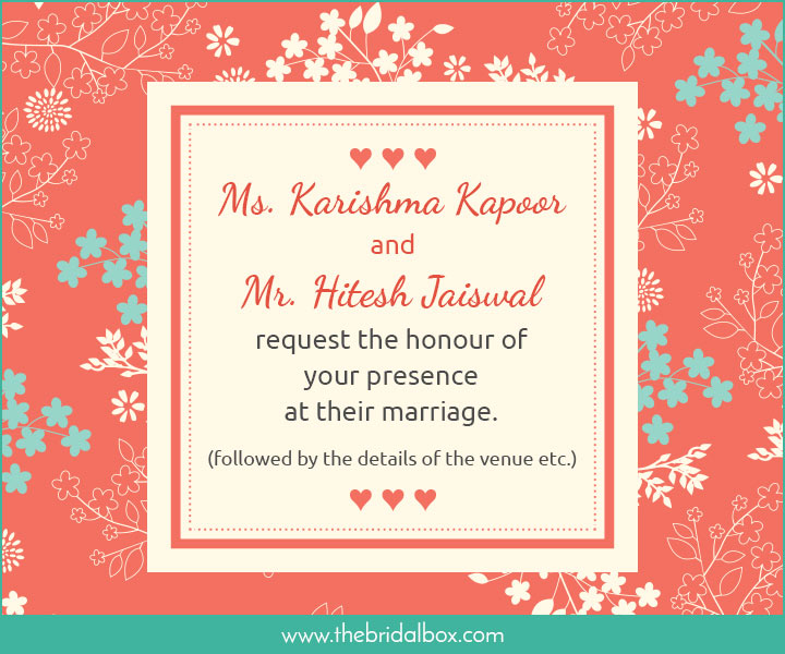 Wedding Invitation Wording 2