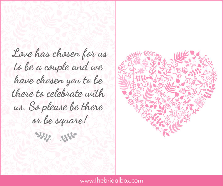 Wedding Invitations Example Text: 50 Wedding Invitation Wording Ideas You Can Totally Use