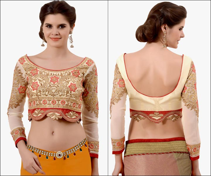 blouse designs for back cutting blouse styles