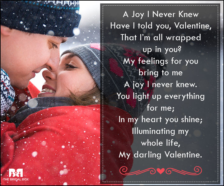 valentine love poems all wrapped up
