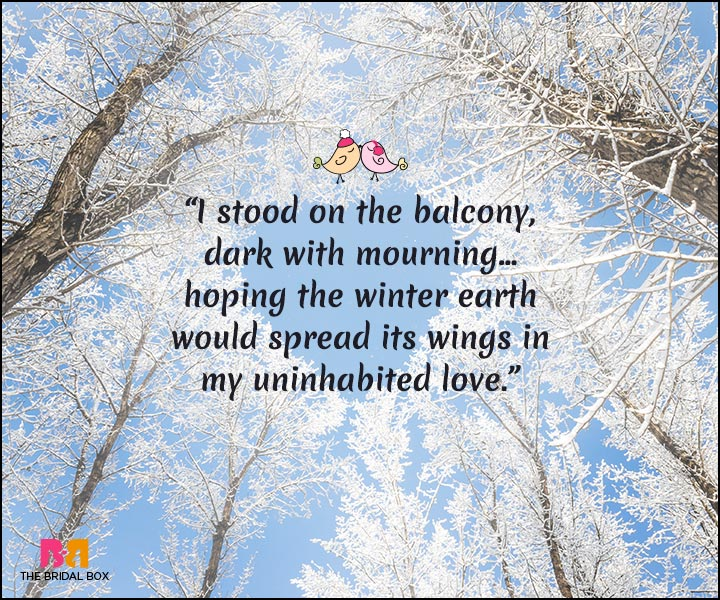 Winter Love Quotes: 15 Quotes That Best Express A Lover\'s Heart