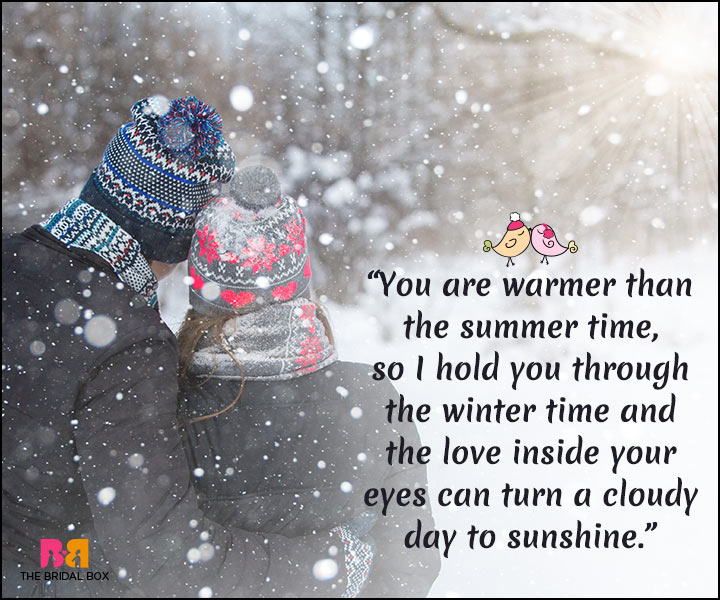 Winter Love Quotes   Warmer Than The Summer