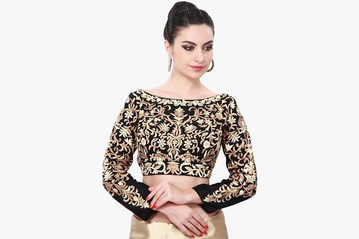 a396f8c9a6e940 Boat Neck Blouse Designs: 15 Latest Blouses Are The Rage In 2017
