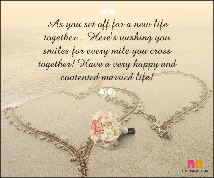 Marriage Wishes Sms Smiles For Every Mile You Cross