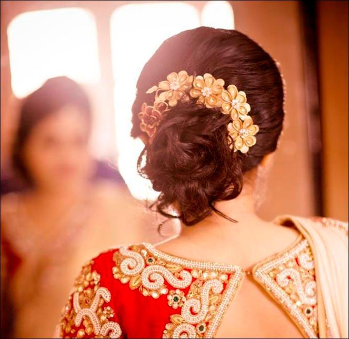 hindu bridal hairstyles 14 safe hairdos for the modern day bride. Black Bedroom Furniture Sets. Home Design Ideas